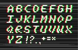 Alfabeto di impulso errato di vettore Fotografie Stock Libere da Diritti