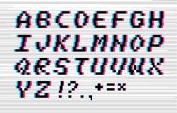 Alfabeto di impulso errato di vettore Fotografia Stock Libera da Diritti