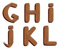 Alfabeto di legno Fotografie Stock Libere da Diritti