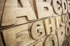 Alfabeto di legno Fotografia Stock Libera da Diritti