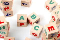 Alfabeto di legno Immagini Stock