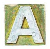 Alfabeto di legno Immagine Stock Libera da Diritti