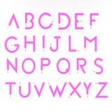 Alfabeto di legno rosa della matita Immagine Stock