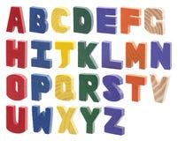 Alfabeto di legno variopinto Fotografia Stock Libera da Diritti