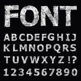 Alfabeto di lerciume. Fotografia Stock