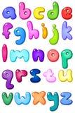 alfabeto di lettera minuscola della bolla 3d Fotografia Stock