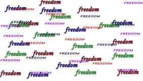 Alfabeto di libertà sull'isolato su illustrazione di stock