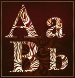 Alfabeto di lusso di vettore (A, B,) Fotografie Stock