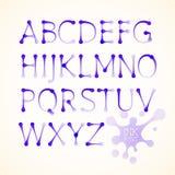 Alfabeto di maiuscola dell'inchiostro di vettore Fotografia Stock Libera da Diritti