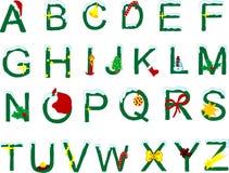 Alfabeto di natale Immagine Stock
