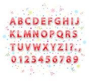 Alfabeto di Natale Fotografia Stock