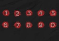 Alfabeto di numero del testo Fotografie Stock Libere da Diritti