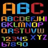 Alfabeto di Origami Fotografia Stock