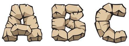 Alfabeto di pietra: ABC Immagine Stock Libera da Diritti