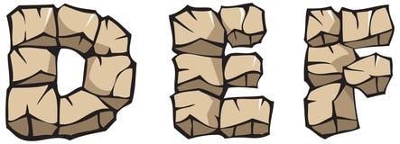 Alfabeto di pietra: DEF Fotografie Stock Libere da Diritti
