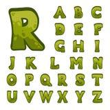 Alfabeto di pietra del gioco per le interfacce utente Immagini Stock Libere da Diritti