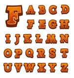 Alfabeto di pietra del gioco per le interfacce utente Immagine Stock Libera da Diritti