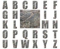 Alfabeto di pietra grigio naturale di struttura Immagini Stock Libere da Diritti