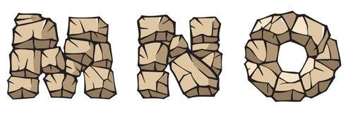 Alfabeto di pietra: MNO Immagine Stock Libera da Diritti
