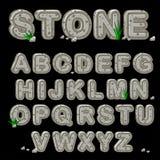 Alfabeto di pietra nel vettore Fotografia Stock