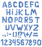 Alfabeto di puzzle immagini stock libere da diritti