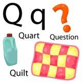 Alfabeto di Q Illustrazione di Stock