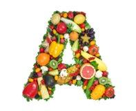 Alfabeto di salute - A Immagine Stock