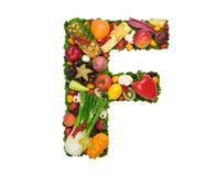 Alfabeto di salute - F Fotografia Stock