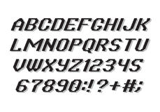 Alfabeto di stile del pixel Fotografia Stock