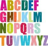 Alfabeto di stile dello scritto tipografico Immagine Stock Libera da Diritti