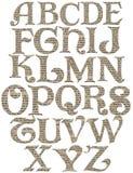 Alfabeto di turbinio dell'annata Fotografia Stock Libera da Diritti