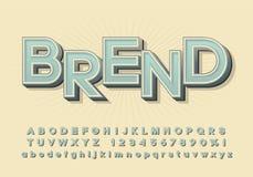 Alfabeto di vettore, fonte tridimensionale con un'ombra, lettere semplici fotografia stock libera da diritti