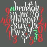 Alfabeto di vettore Lettere disegnate a mano Immagini Stock