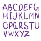 Alfabeto di vettore Lettere disegnate a mano Immagine Stock