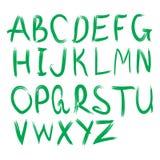 Alfabeto di vettore Lettere disegnate a mano Lettere dell'alfabeto scritto con una spazzola Fotografia Stock