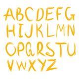 Alfabeto di vettore Lettere disegnate a mano Lettere dell'alfabeto scritto con una spazzola Immagine Stock