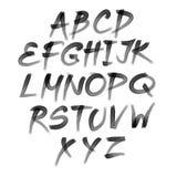 Alfabeto di vettore Lettere disegnate a mano scritto con una spazzola Immagini Stock