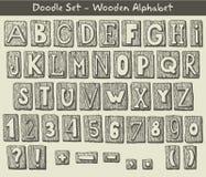 Alfabeto dibujado mano Imagen de archivo libre de regalías