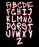 Alfabeto dibujado mano de la tipografía para la impresión de la camiseta libre illustration