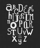 Alfabeto dibujado mano del vector Imágenes de archivo libres de regalías