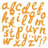 Alfabeto dibujado mano del vector Fotos de archivo