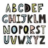 Alfabeto dibujado mano divertida libre illustration