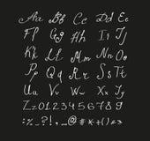 Alfabeto dibujado mano hecho en vector Foto de archivo