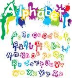 Alfabeto dibujado mano - las letras se hacen del agua c imagen de archivo