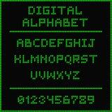 Alfabeto digital verde Foto de Stock