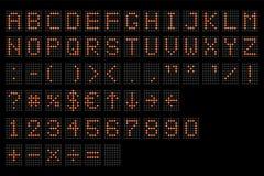 Alfabeto digitale principale Visualizzatore digitale elettronico di alfabeto e di numero, lettere e simboli La tavola terminale d illustrazione vettoriale