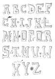 Alfabeto disegnato a mano Fotografia Stock Libera da Diritti