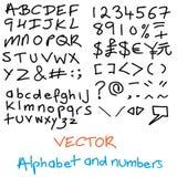 Alfabeto disegnato a mano Immagine Stock