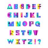Alfabeto disegnato a mano Immagini Stock Libere da Diritti