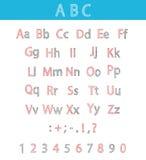 Alfabeto disegnato a mano classico ABC per la vostra progettazione Fotografia Stock Libera da Diritti